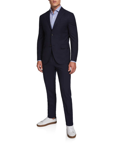Men's Two-Piece Wool Twill Suit