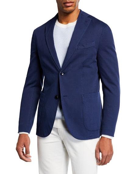 Men's Pique-Knit Two-Button Jacket