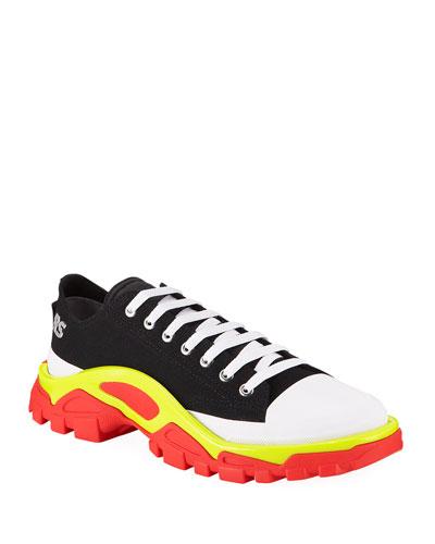 Men's Detroit Runner Canvas Sneakers  Black