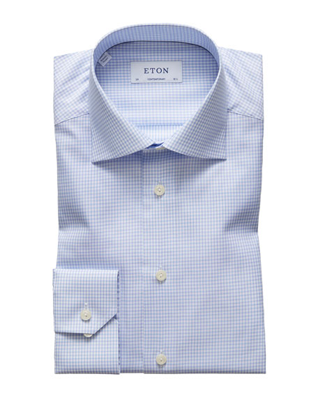 Men's Check Contemporary-Fit Dress Shirt