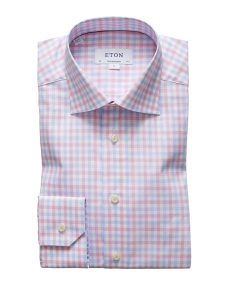 Men's Contemporary-Fit Two-Tone Check Sport Shirt