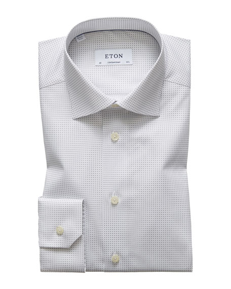 Image 1 of 1: Men's Micro-Print Contemporary Sport Shirt