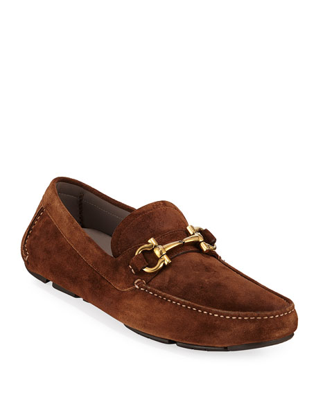Men's Gancio-Bit Suede Drivers