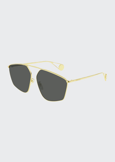 Men's Lightweight Metal-Frame Sunglasses