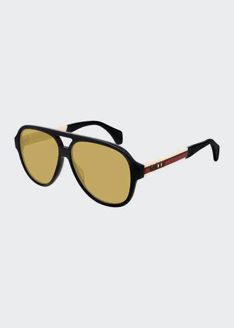 Men's Nylon Pilot Sunglasses