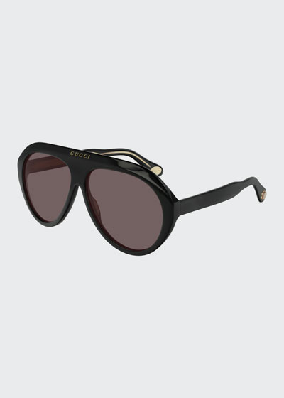 Men's Curved Nylon Shield Sunglasses