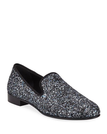 Men's Kevin Glittered Slip-On Evening Shoes