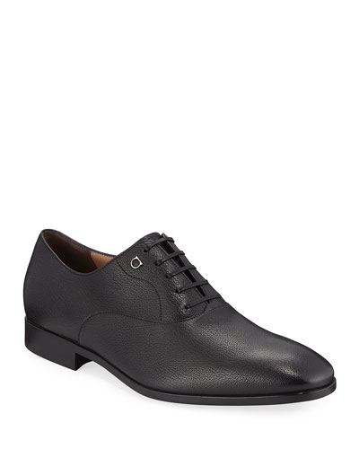 Men's Toulouse Pebbled Leather Oxford Dress Shoe