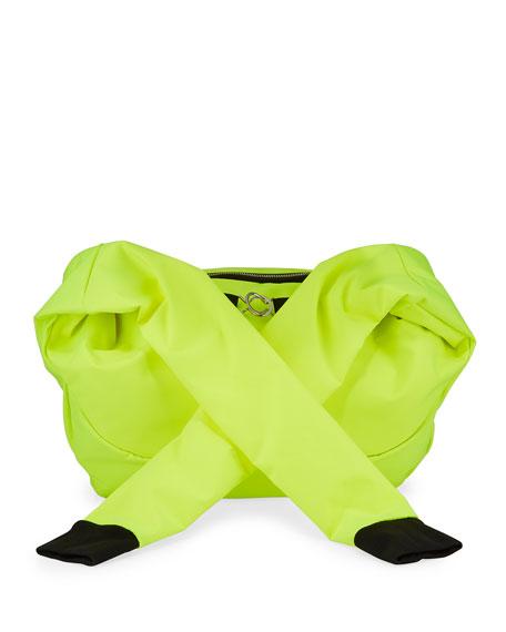 Men's Nylon Belt Bag with Sleeve Straps