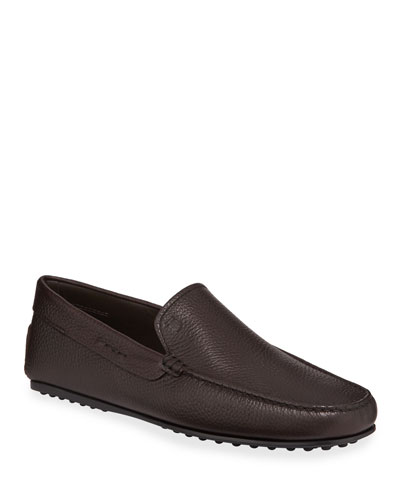Men's City Leather Moc-Toe Driver Shoes