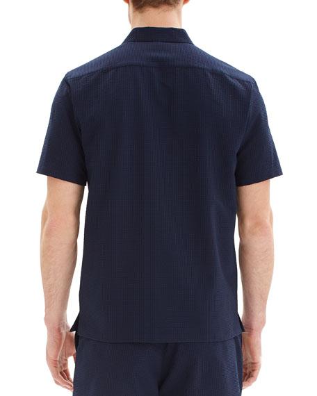Men's Irving Crushed Seersucker Short-Sleeve Sport Shirt