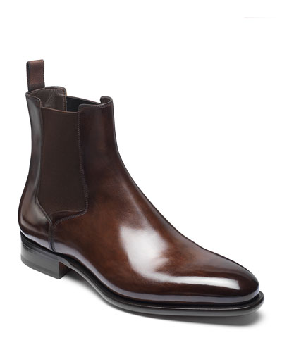 Men's Lock Leather Chelsea Boots