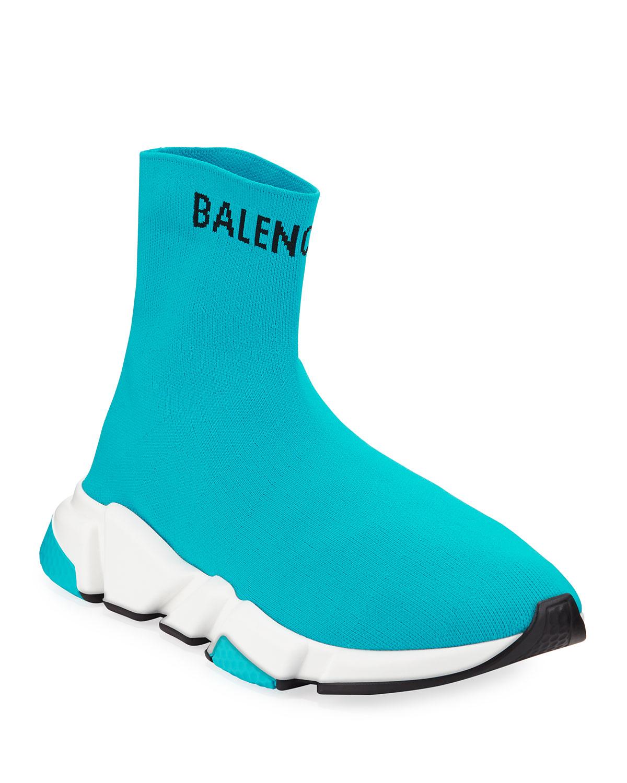 Hi Speed Knit Sock Sneakers, Blue