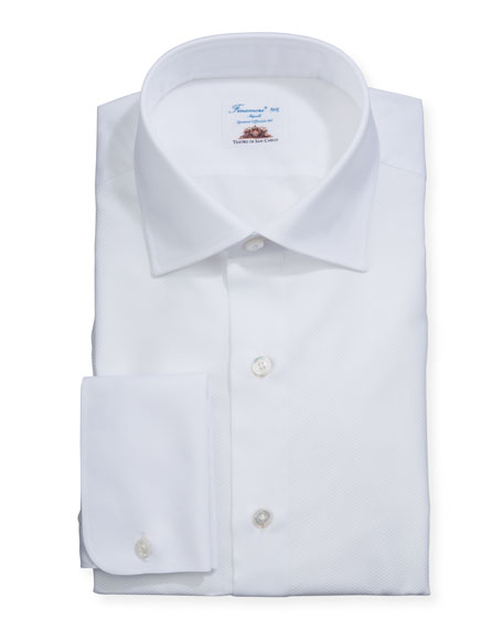 Men's Pique French-Cuff Tuxedo Shirt