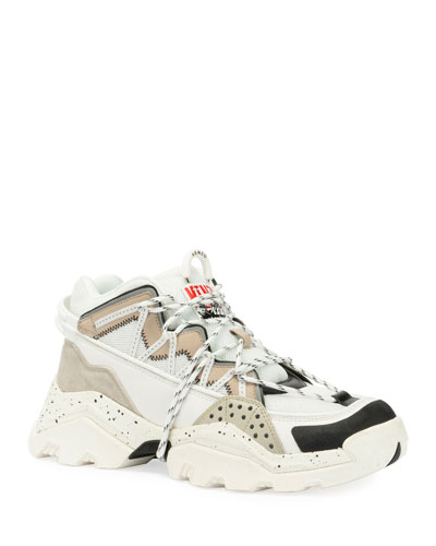 Men's Inka Chunky Speckled Wraparound-Lace Sneakers
