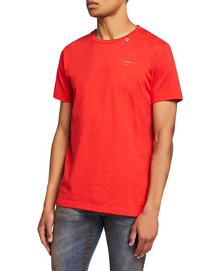 Off-White Men's Unfinished Short-Sleeve Slim T-Shirt