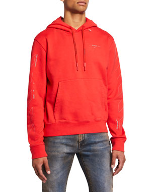 Off-White Men's Unfinished Logo Hoodie Sweatshirt