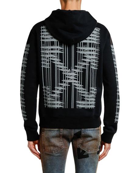 Men's Diagonal Indus Slim Zip-Front Hoodie
