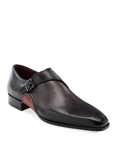 Men's Carrera Single-Monk Leather Shoes