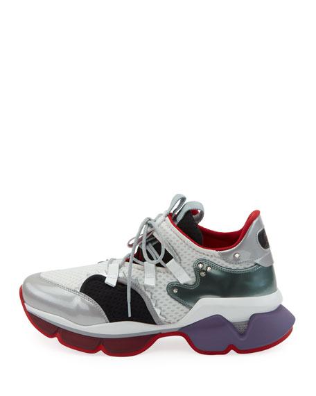 Men's Red-Runner Colorblock Spike Trainer Sneaker