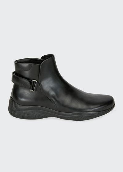 Men's Spazzolato Leather Combat Boots