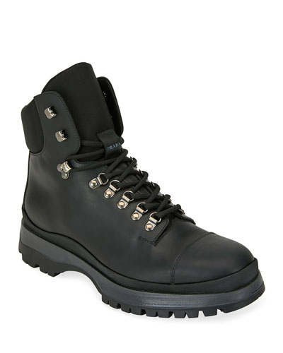 Men's Lace-Up Leather Hiker Boots
