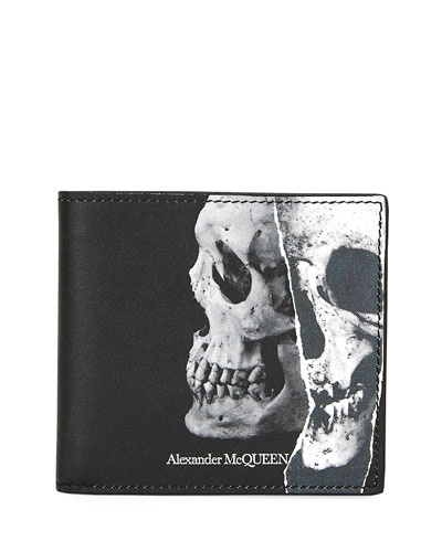 Men's Leather Skull Wallet