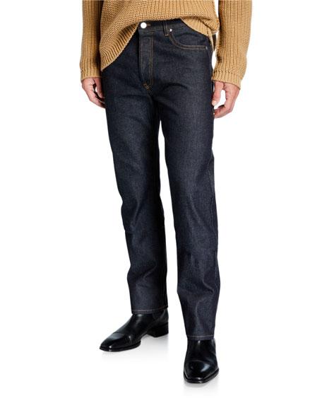Men's Side-Loop Washed Denim Jeans