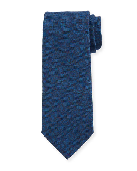 Men's Solid Jacquard Tie