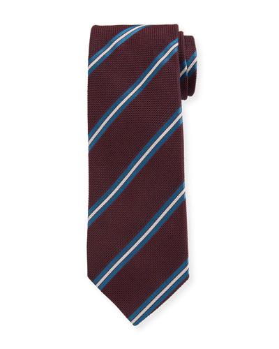 Men's Striped Silk Grenadine Tie