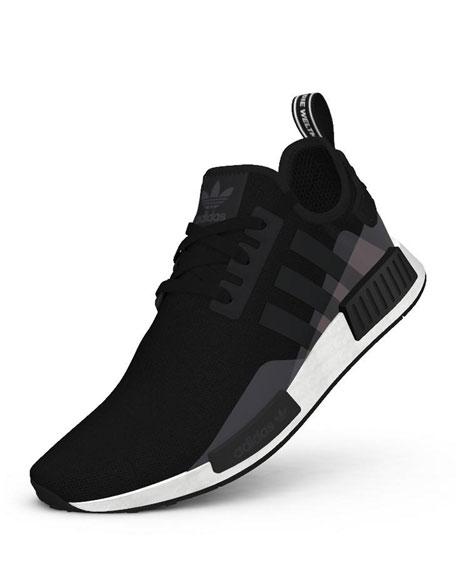 Men's NMD R1 3-Stripes® Monogram Leather Sneakers