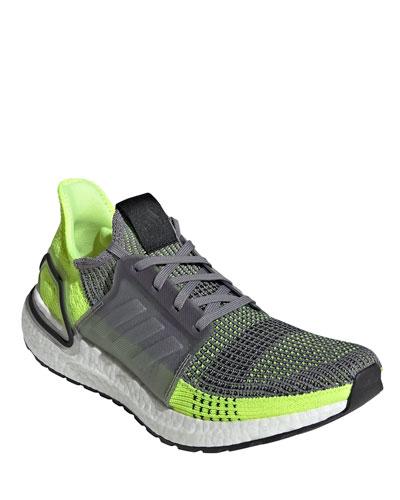 Men's Ultraboost 19 Stretch-Knit Sneakers