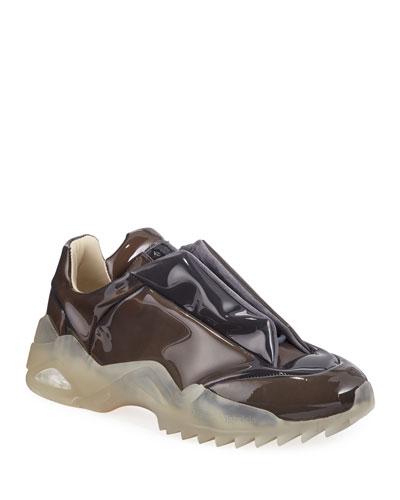 Men's New Future Laminated Low-Top Sneakers