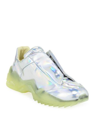 Men's New Future Chunky Metallic Hidden-Lace Sneakers