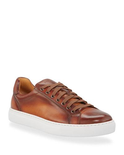 Men's Napa Leather Low-Top Sneakers