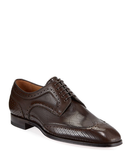 Image 1 of 1: Men's Cousin Derbissimo Brogue Leather Derby Shoes