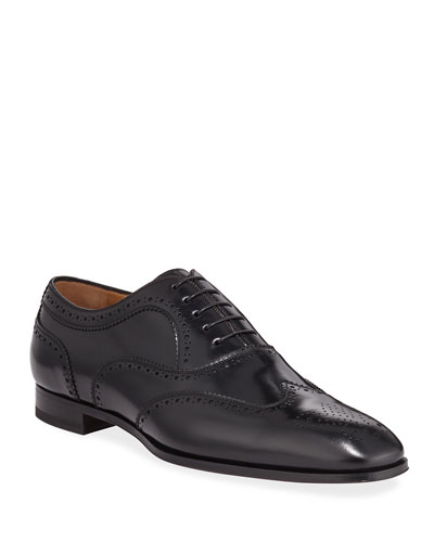 Men's Cousin Platerissimo Brogue Leather Oxford Shoes