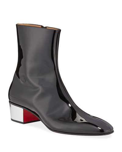 Men's Palace Disco Patent Red Sole Boots