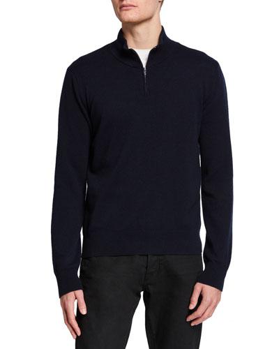 Men's Dexter Half-Zip Cashmere Sweater