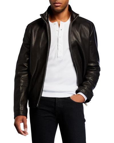 Men's Cole Calfskin Zip-Front Jacket