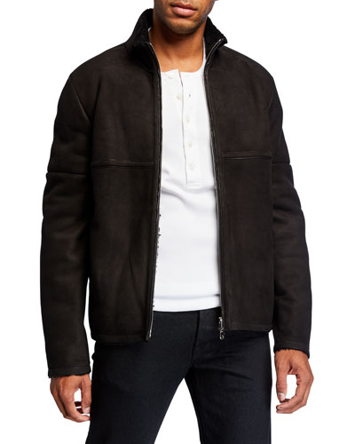 Men's Ryder Lambskin Zip-Front Jacket