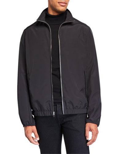 Men's Leo Solid Wool-Nylon Jacket