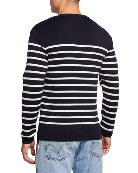 Men's Goulenez Striped Wool Sweater