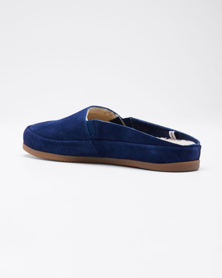 Men's Suede Shearling Slippers