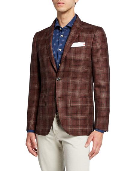 Men's Plaid Cashmere Sport Coat