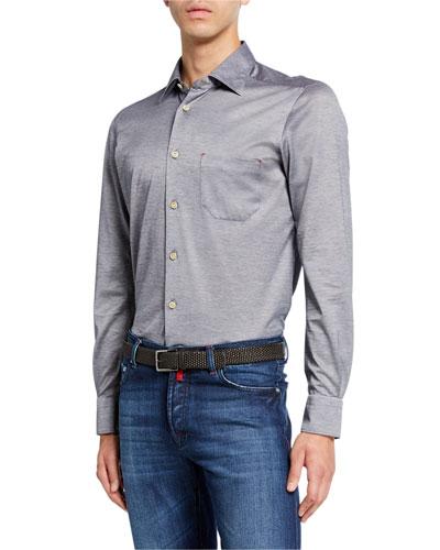 Men's Jersey Cotton Shirt  Gray