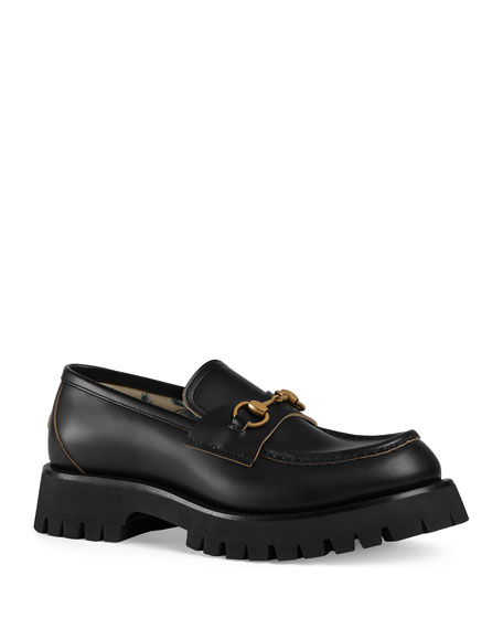 Men's Django Creeper Lugged-Sole Leather Loafer