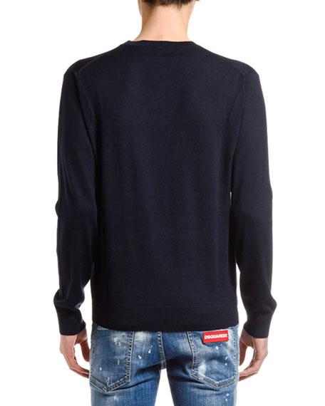 Men's V-Neck Wool Sweater