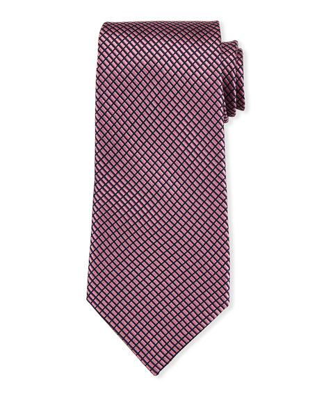 Screen Weave Silk Tie