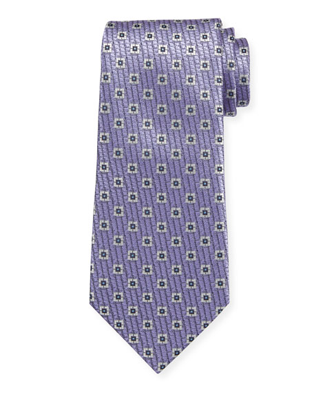 Spaced Square Silk Tie